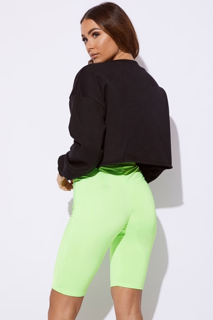 661456730f5 Lyesha Neon Lime Cycling Shorts | In The Style Australia