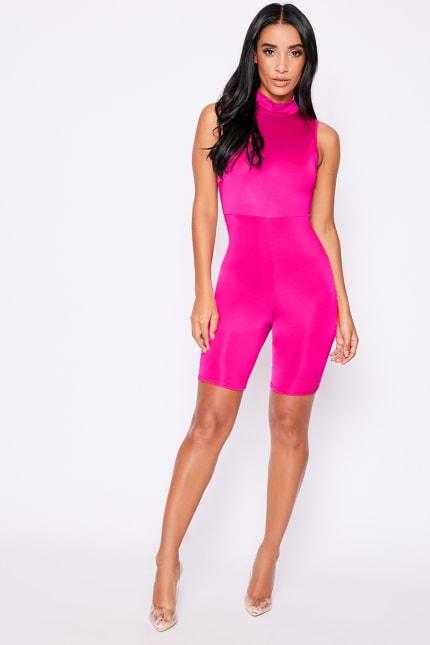 b0aee55e42c Kirstie Neon Pink Unitard | In The Style Australia