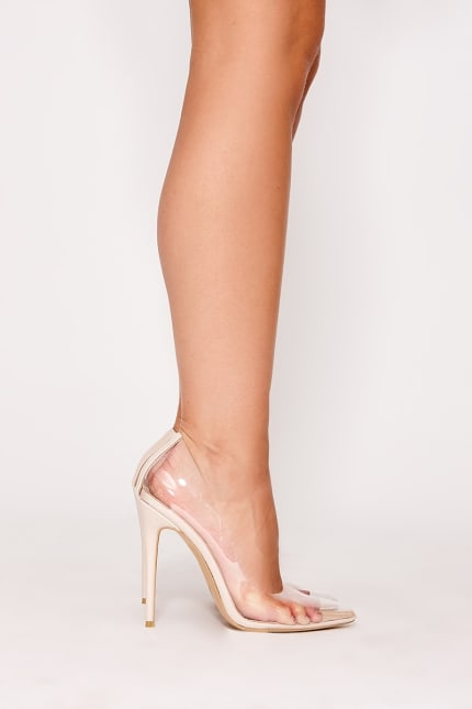 e13515365b Vianna Nude Clear Court Heels | In The Style