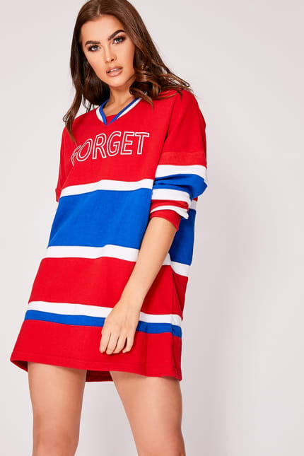 74db4a9ef515 Irrima Red Forget The Rules Oversized Colour Block Sweatshirt   In ...