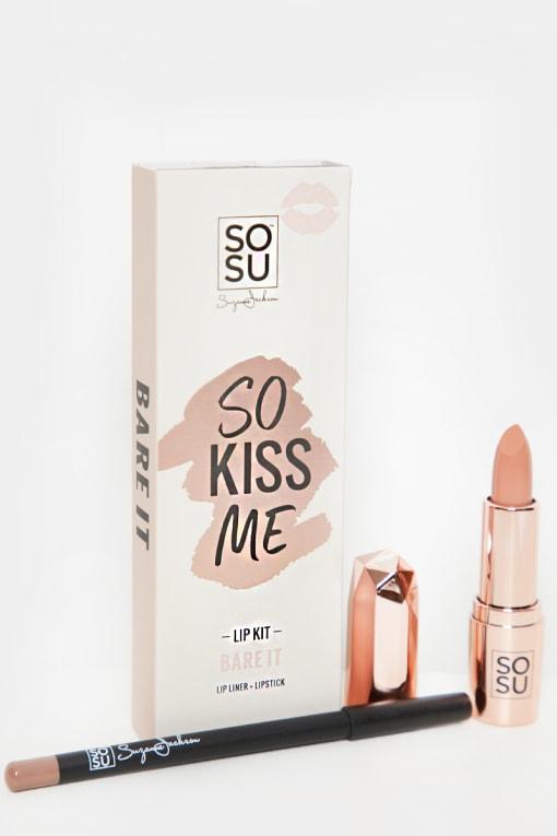 SOSUBYSJ SO KISS ME LIP KIT BARE IT