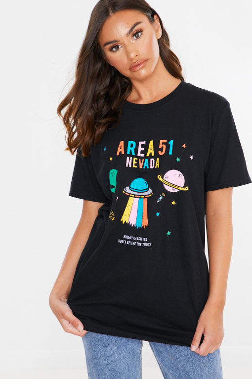 BLACK AREA 51 NEVADA T SHIRT