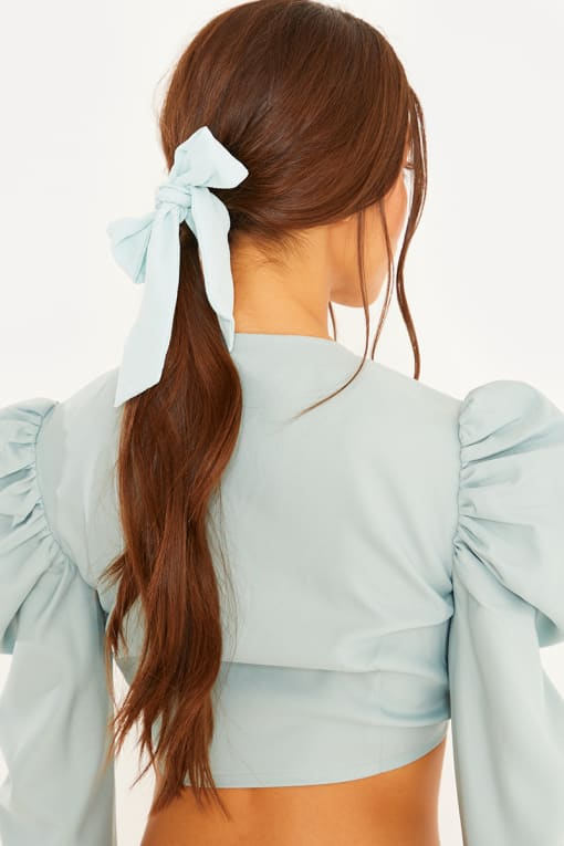 LORNA LUXE SAGE GREEN HAIR TIE