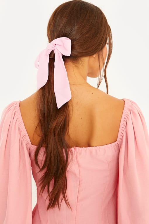 LORNA LUXE PINK HAIR TIE