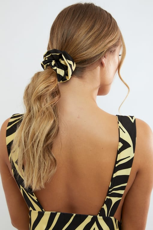 yellow zebra scrunchie