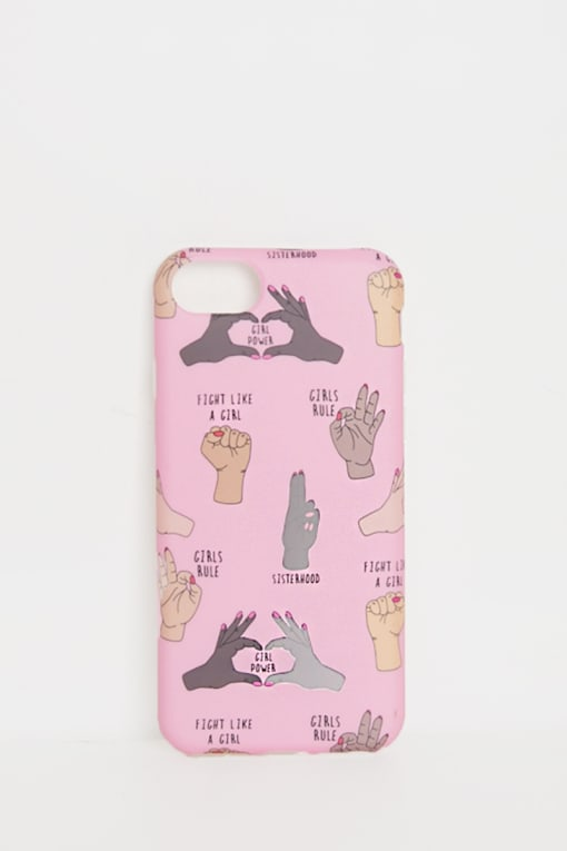 COCONUT LANE PINK SISTERHOOD PHONE CASE