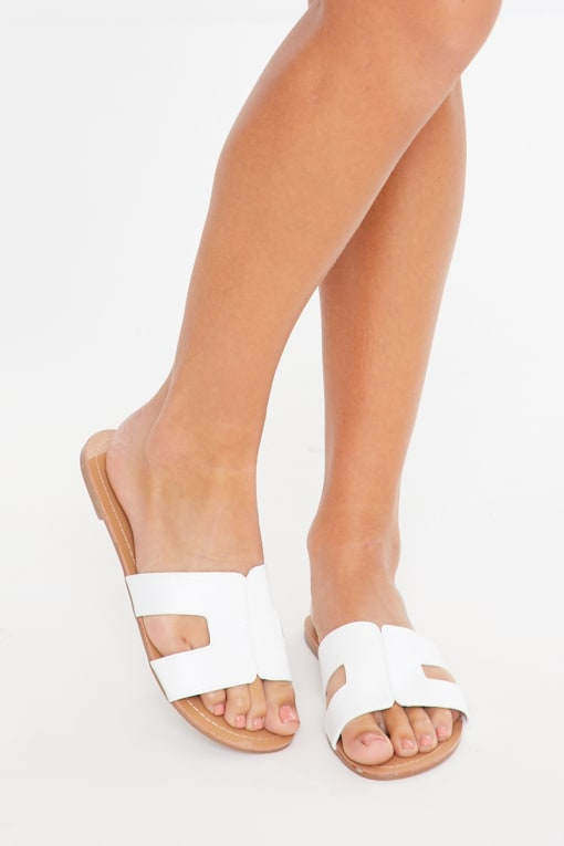 EZMAY WHITE SLIDERS