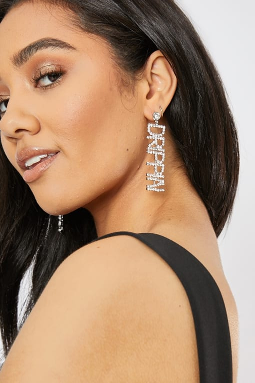 DRIPPIN DROP DIAMANTE EARRINGS
