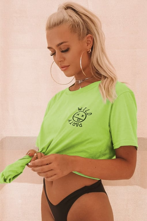 LOTTIE TOMLINSON LIME DANCE T SHIRT
