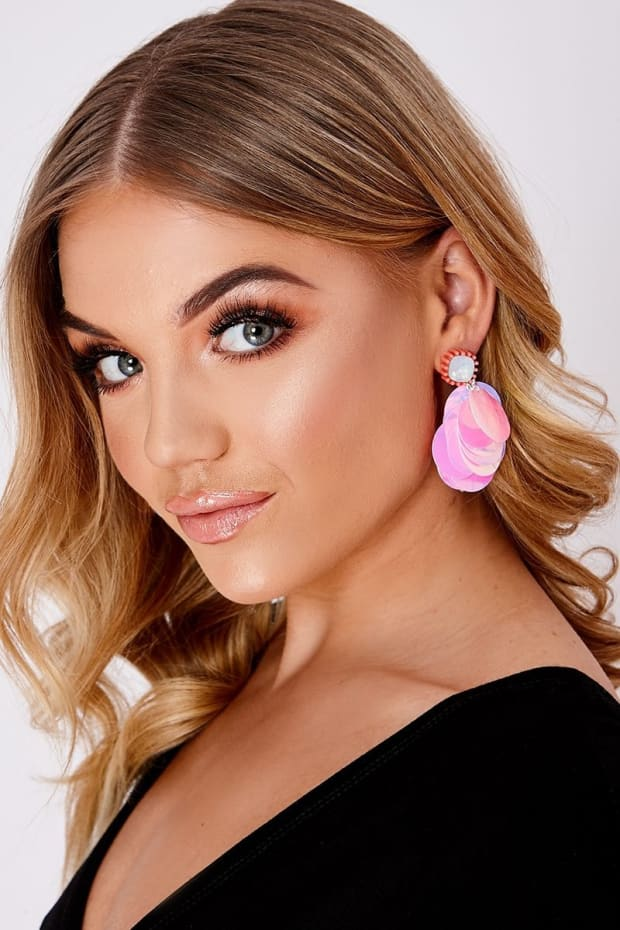 PINK HOLOGRAPHIC EARRINGS