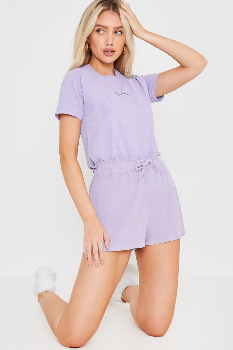 JAC JOSSA WASHED LILAC PAPERBAG SHORTS
