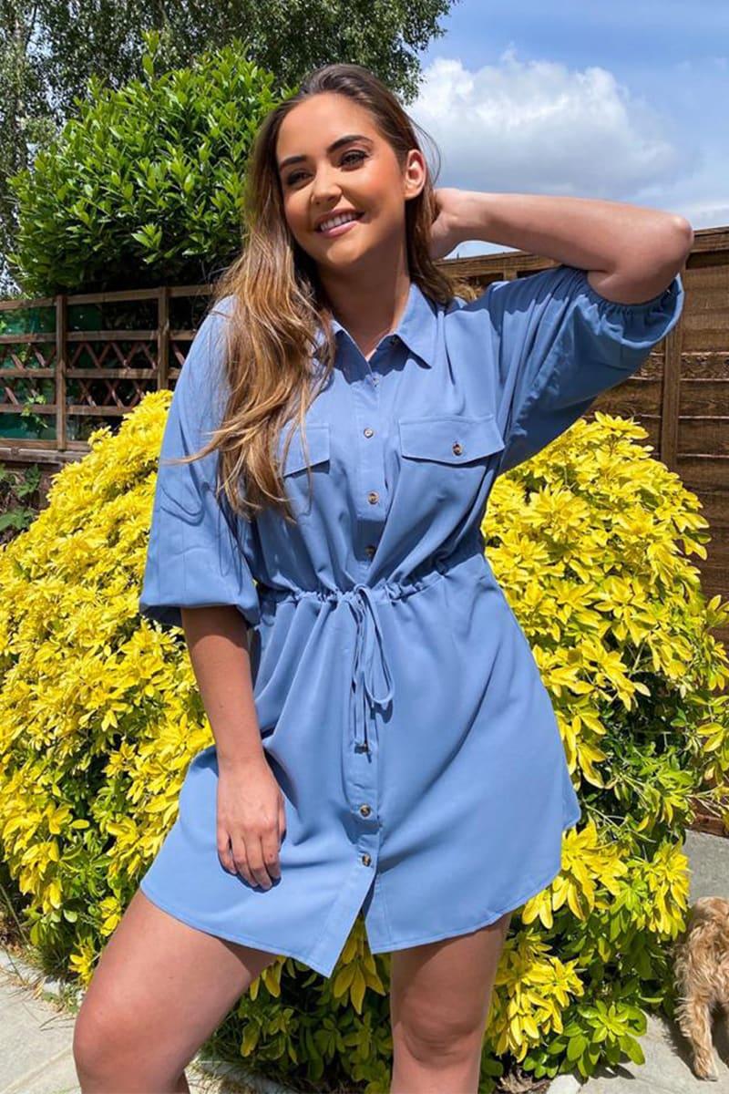 JAC JOSSA BLUE SHIRT DRESS