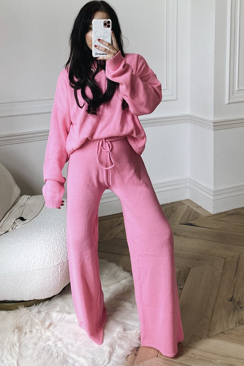 LORNA LUXE PINK 'LULLABY' CO ORD TROUSER