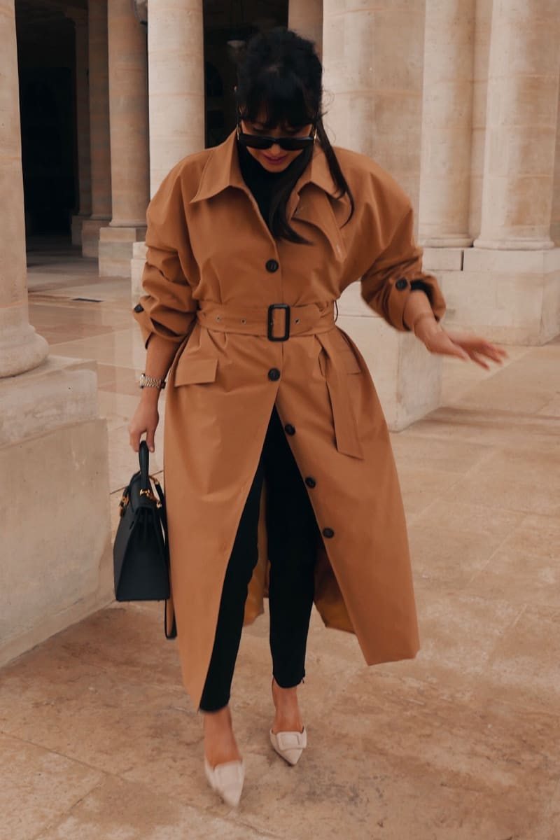 LORNA LUXE STONE 'PERFECT' TRENCH COAT WITH DEEP CUFFS