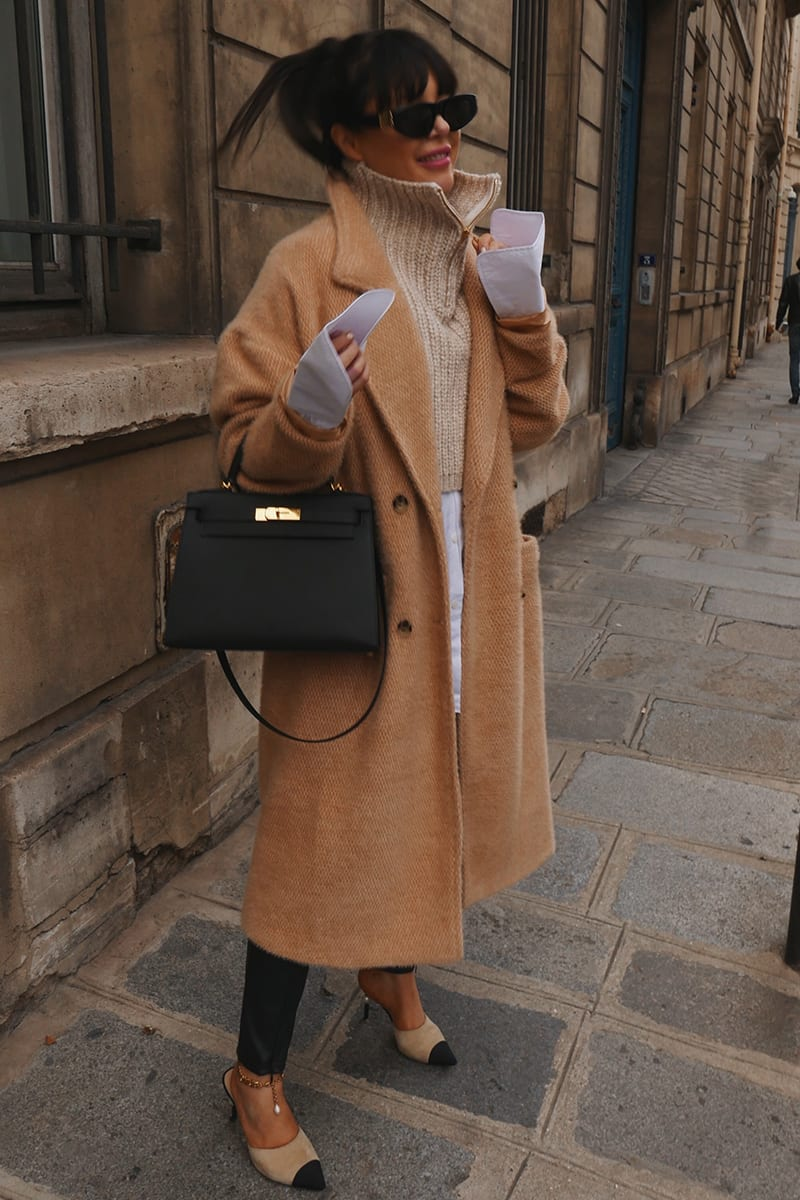 LORNA LUXE STONE 'ELIZABETH' BORROWED HIS DOUBLE BREASTED COAT