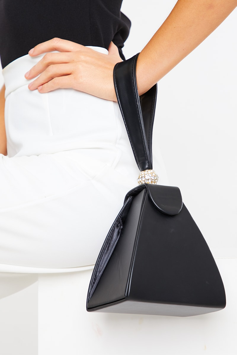 BLACK RECTANGLE BOX BAG