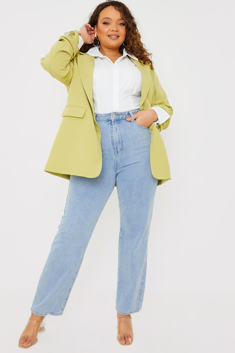 CURVE PERRIE SIAN LIGHT WASH STRAIGHT LEG JEANS
