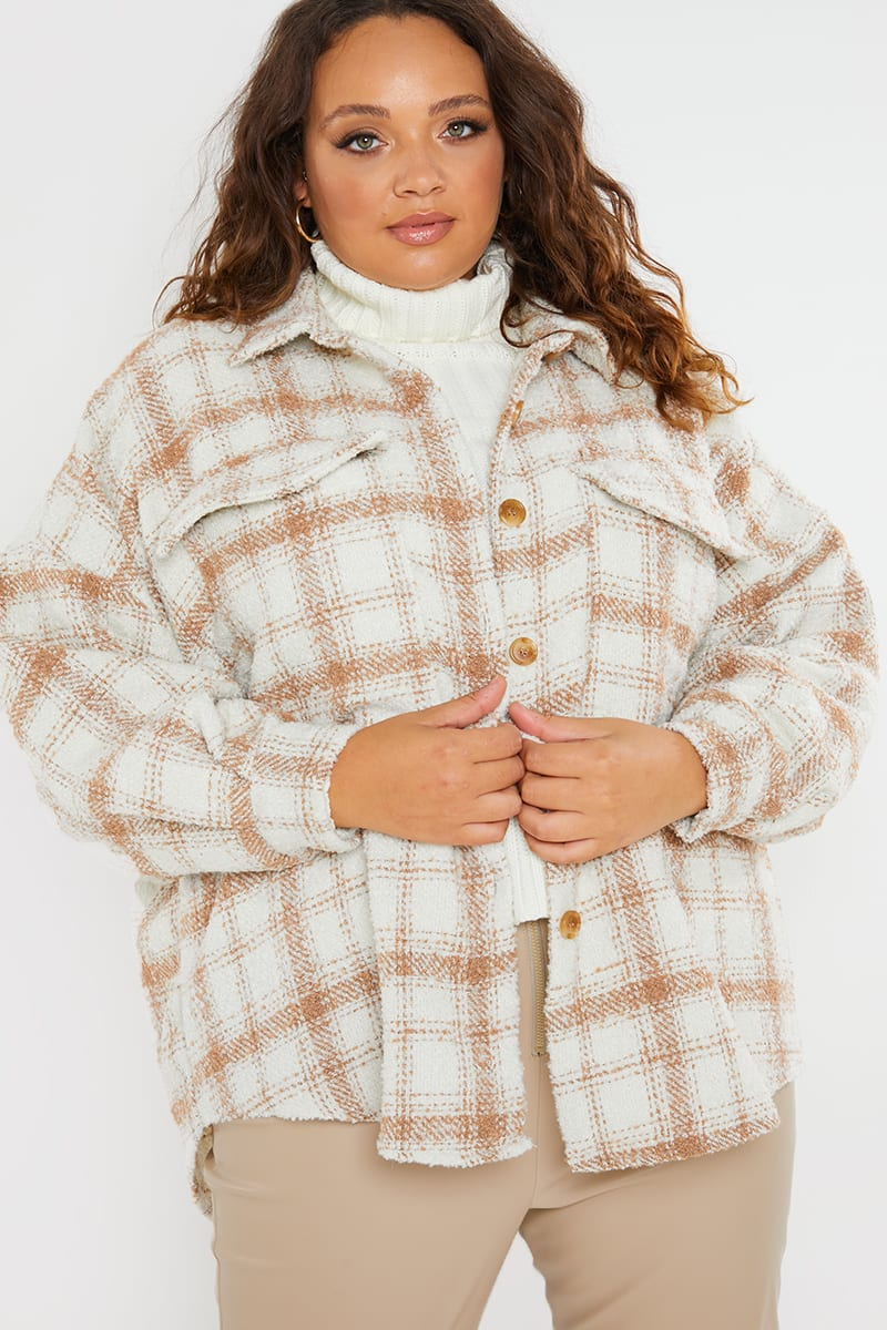 CURVE PERRIE SIAN CREAM CHECK SHACKET