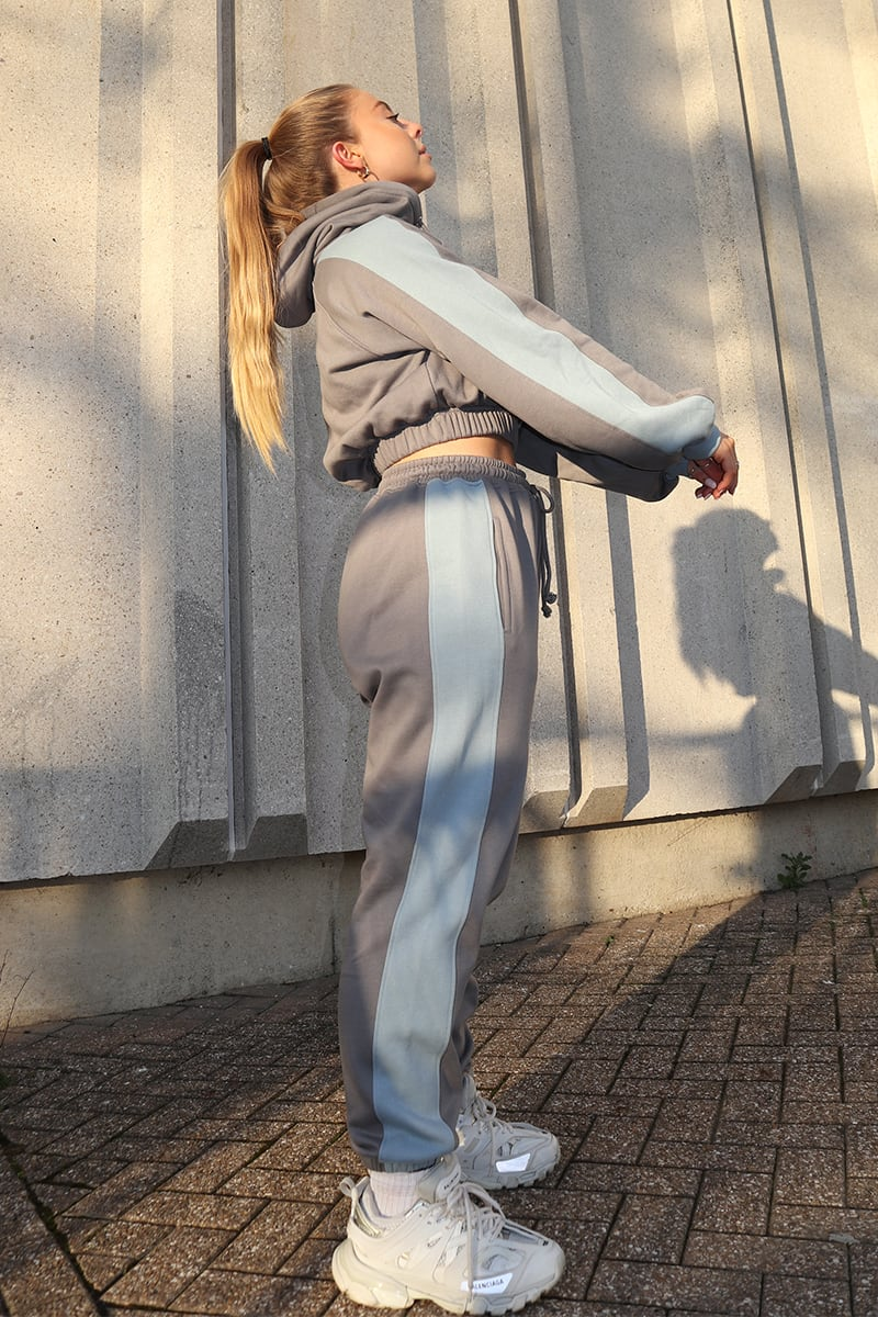 SYD AND ELL CHARCOAL SIDE PANEL JOGGERS