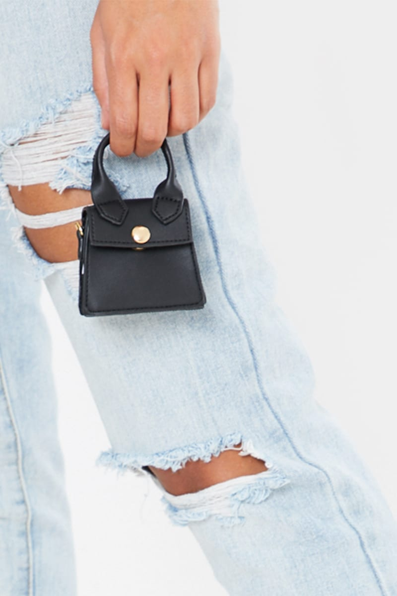 BLACK SUPER MINI BAG