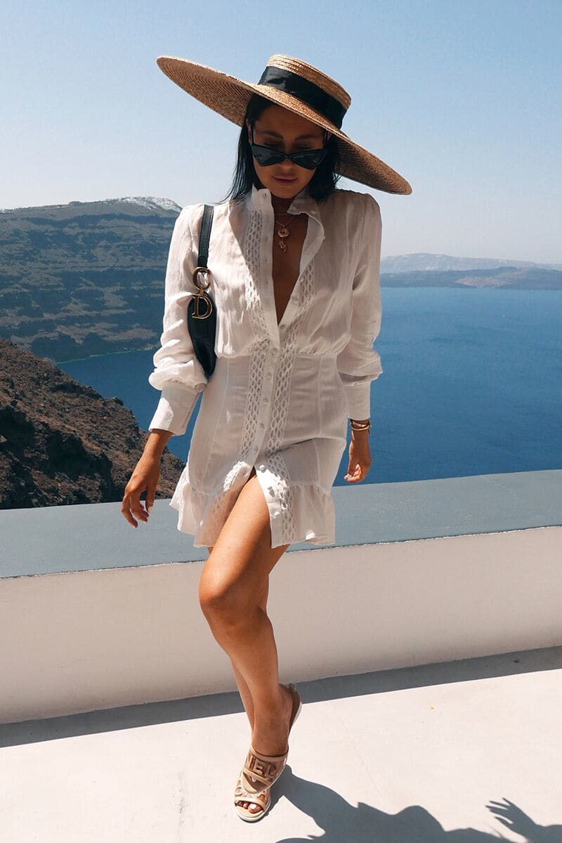 LORNA LUXE WHITE 'NEMESIS' DRESS
