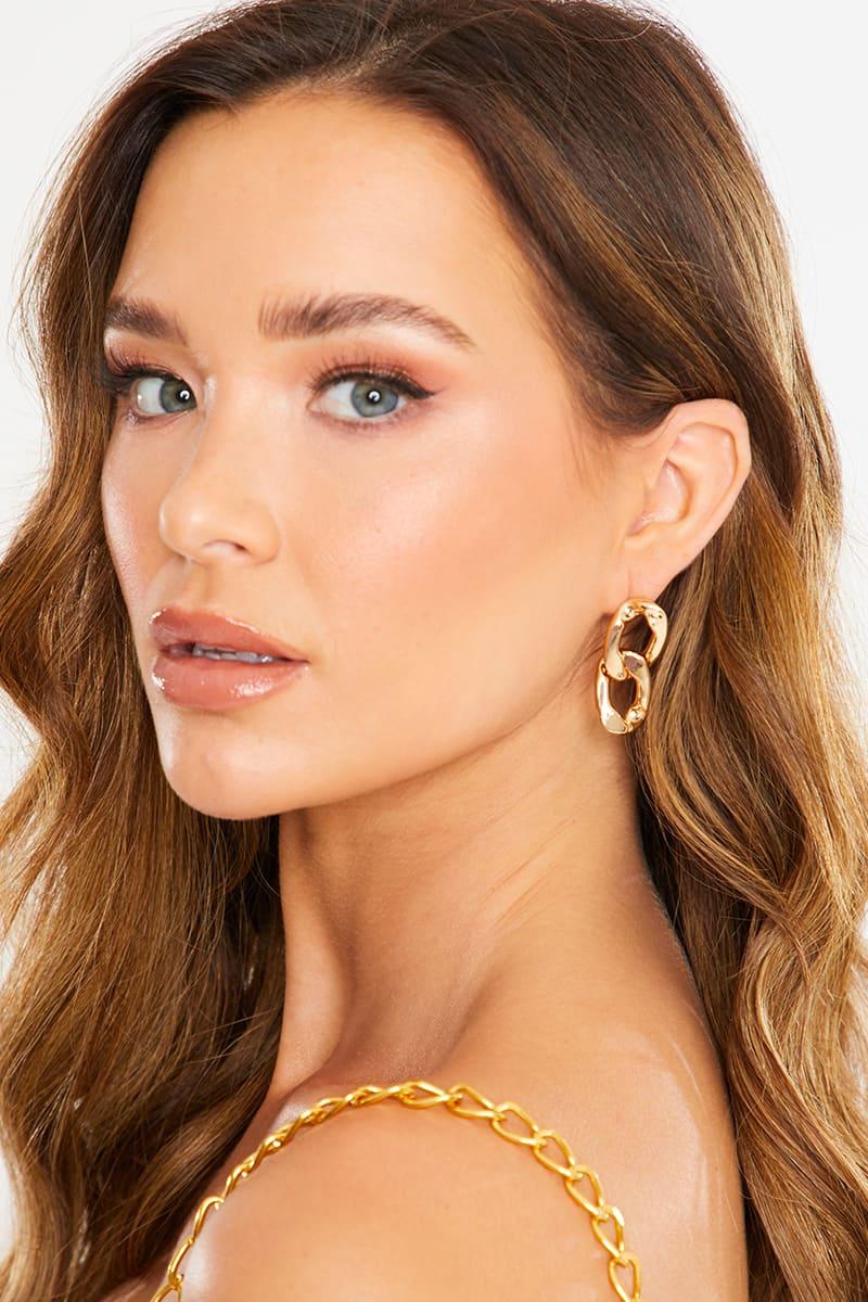 GOLD LINK EARRINGS
