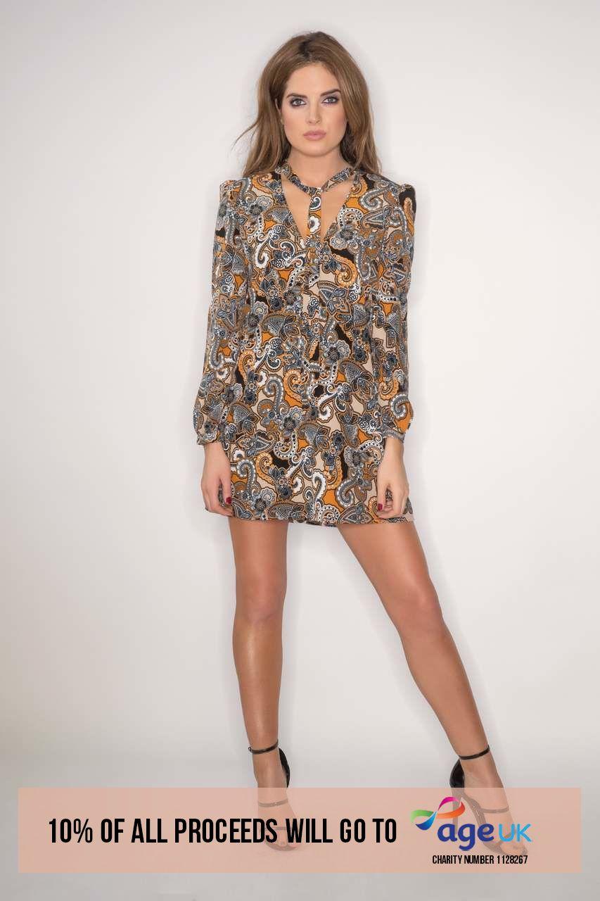 Binky Retro Paisley Print Swing Dress