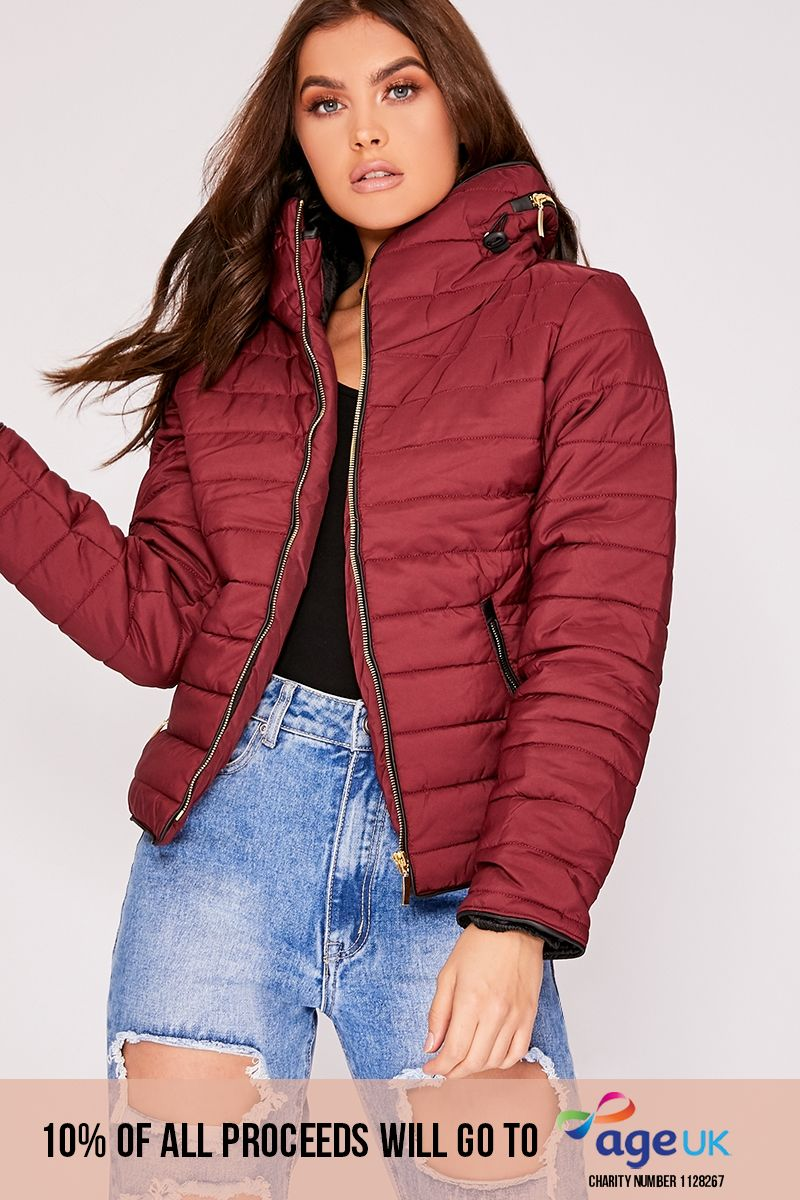 OSSIE WINE PADDED JACKET