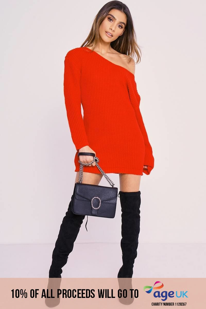 CHARLOTTE CROSBY RED JUMPER DRESS