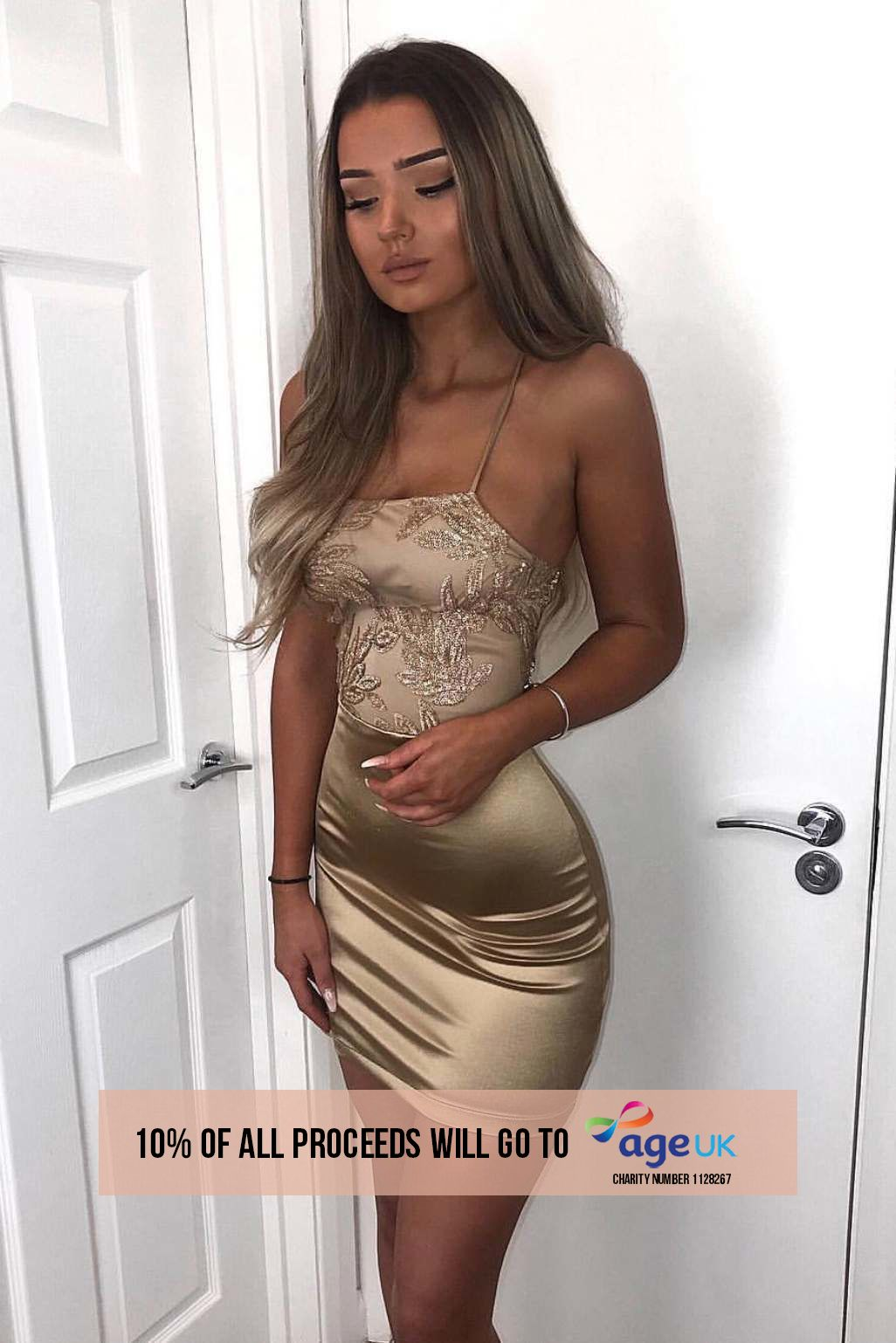 gold sequin leaf backless bodycon dress