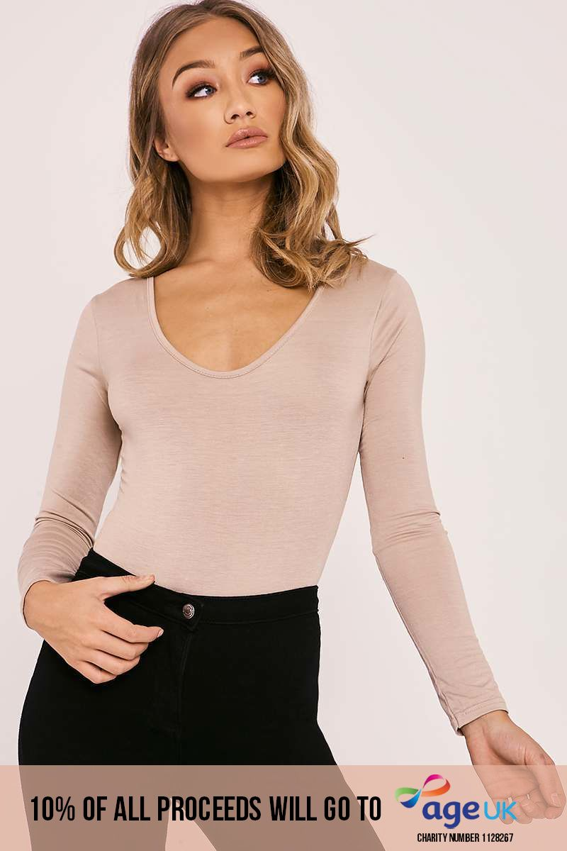 BASIC LONG SLEEVE NUDE BODYSUIT
