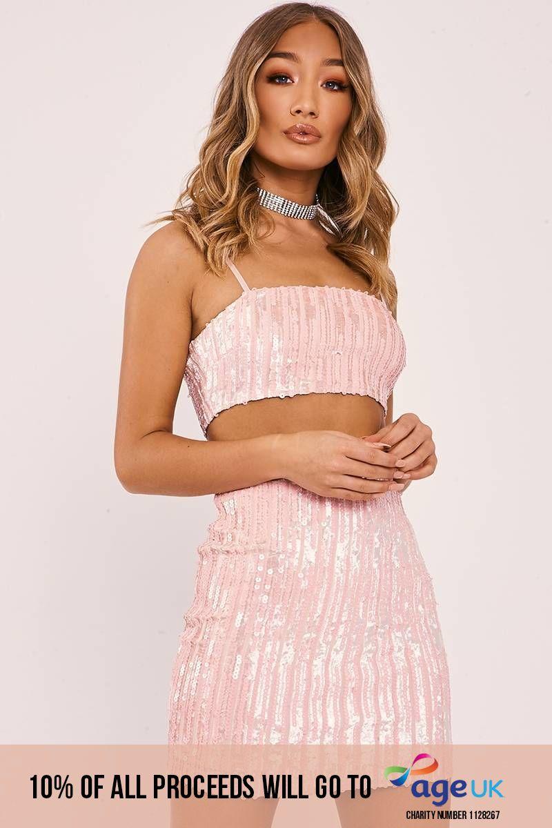 pink velvet sequin mini skirt