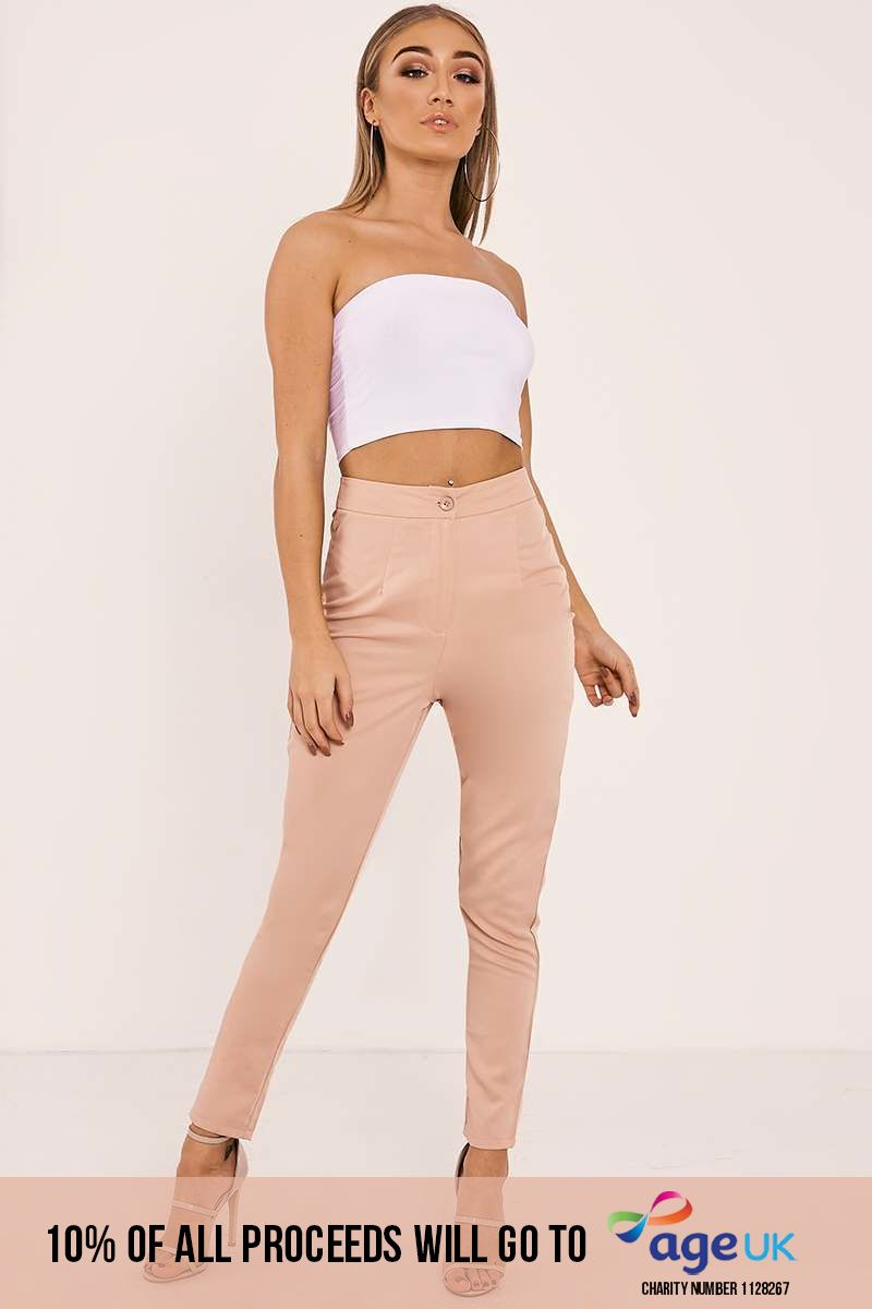 KAELYN NUDE CIGARETTE TROUSERS