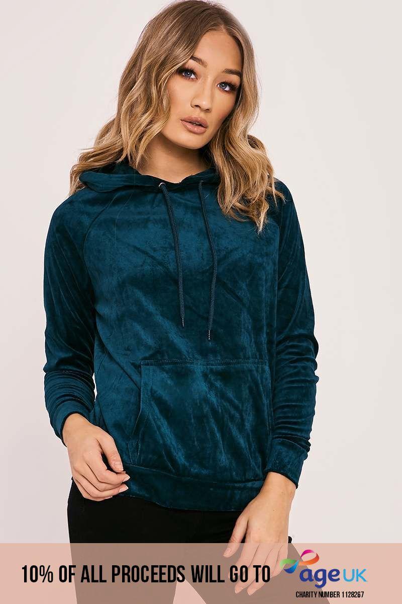 green velvet hoodie