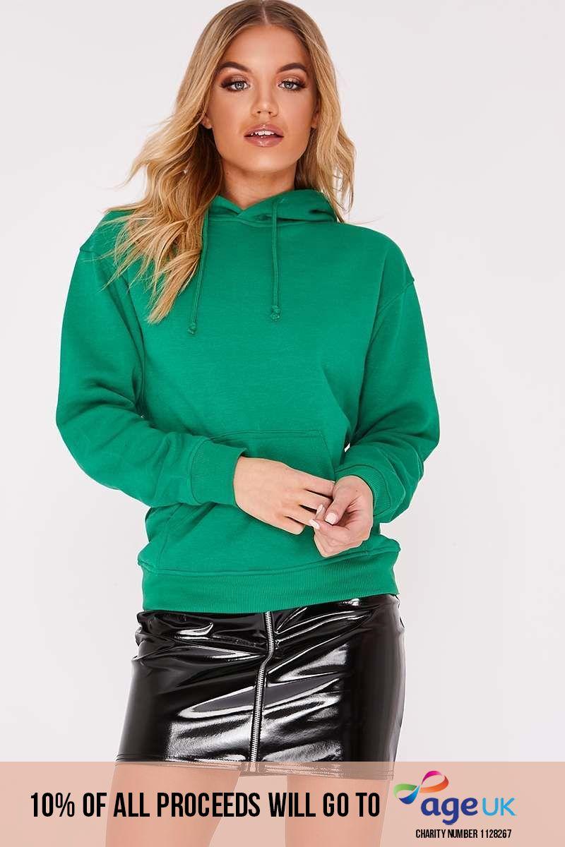 green sweater hoodie