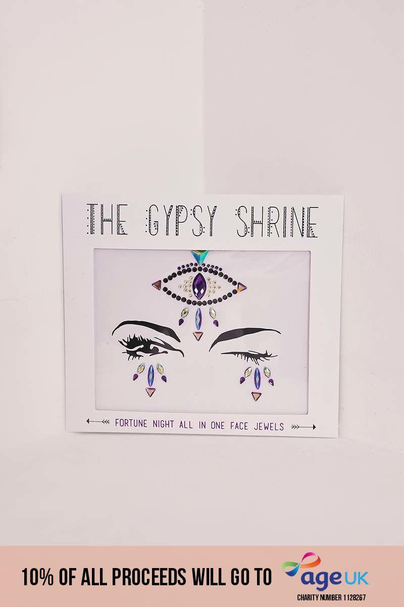 GYPSY SHRINE FORTUNE TELLER EYE FACE JEWELS