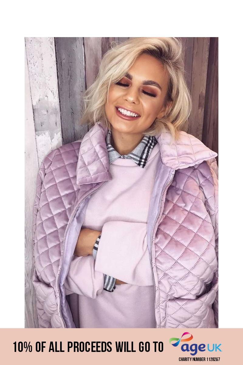 lilac quilted jacket
