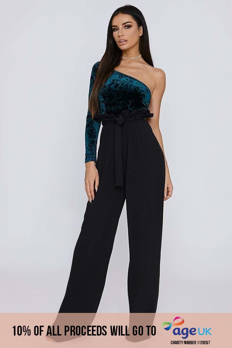 black crepe paperbag trousers