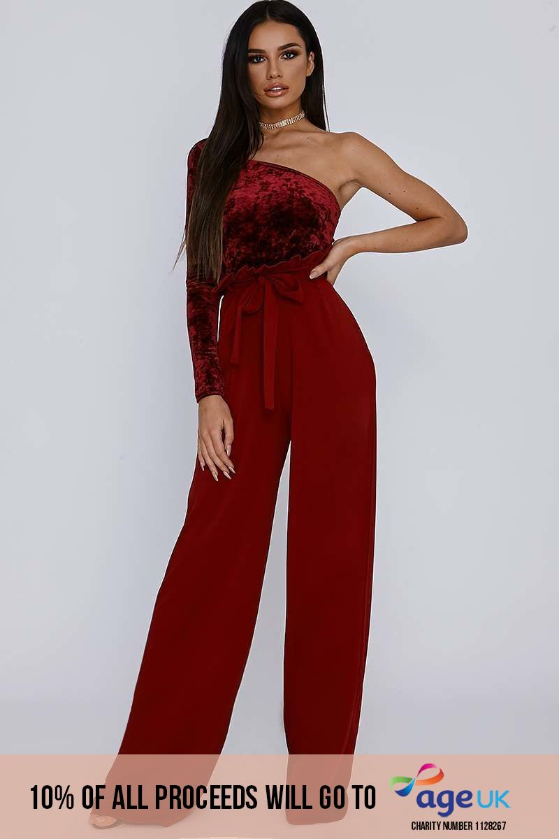 tall wine crepe paperbag trousers