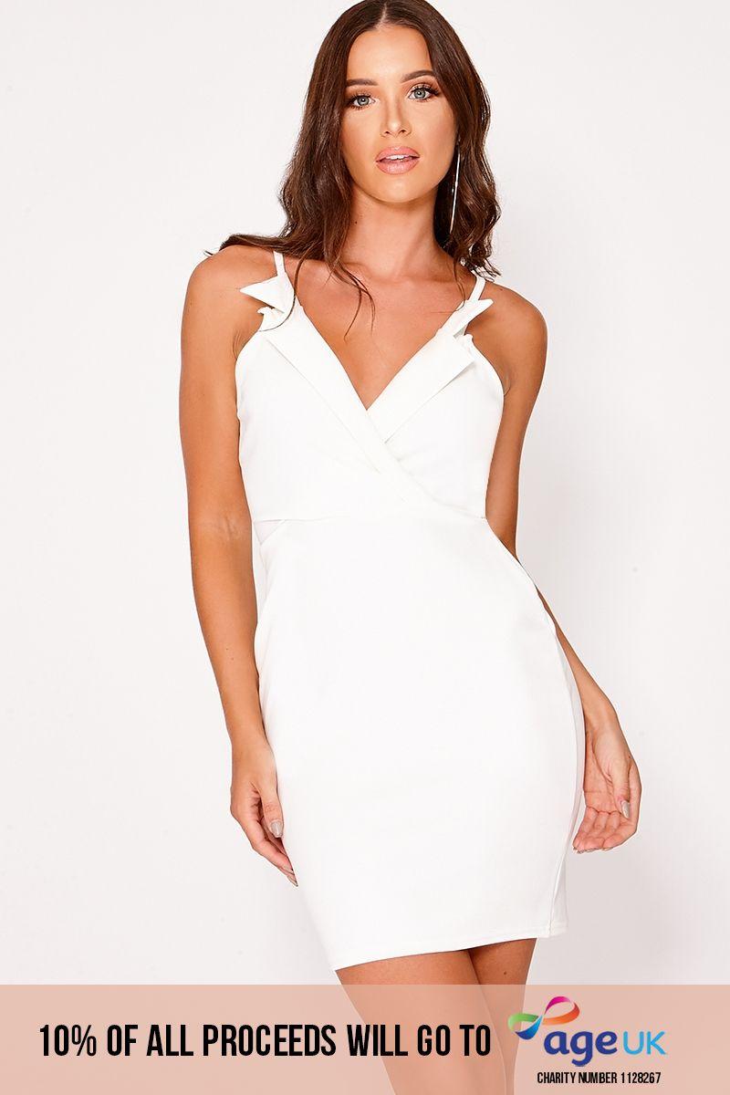 cream collared sleeveless dress