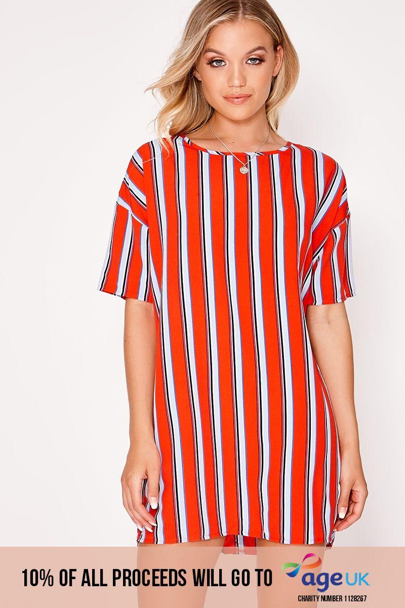 red stripe t shirt dress