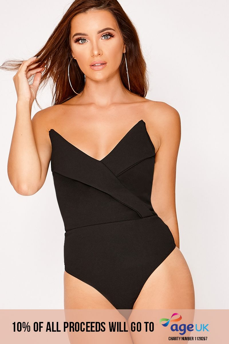 black tux detail bodysuit