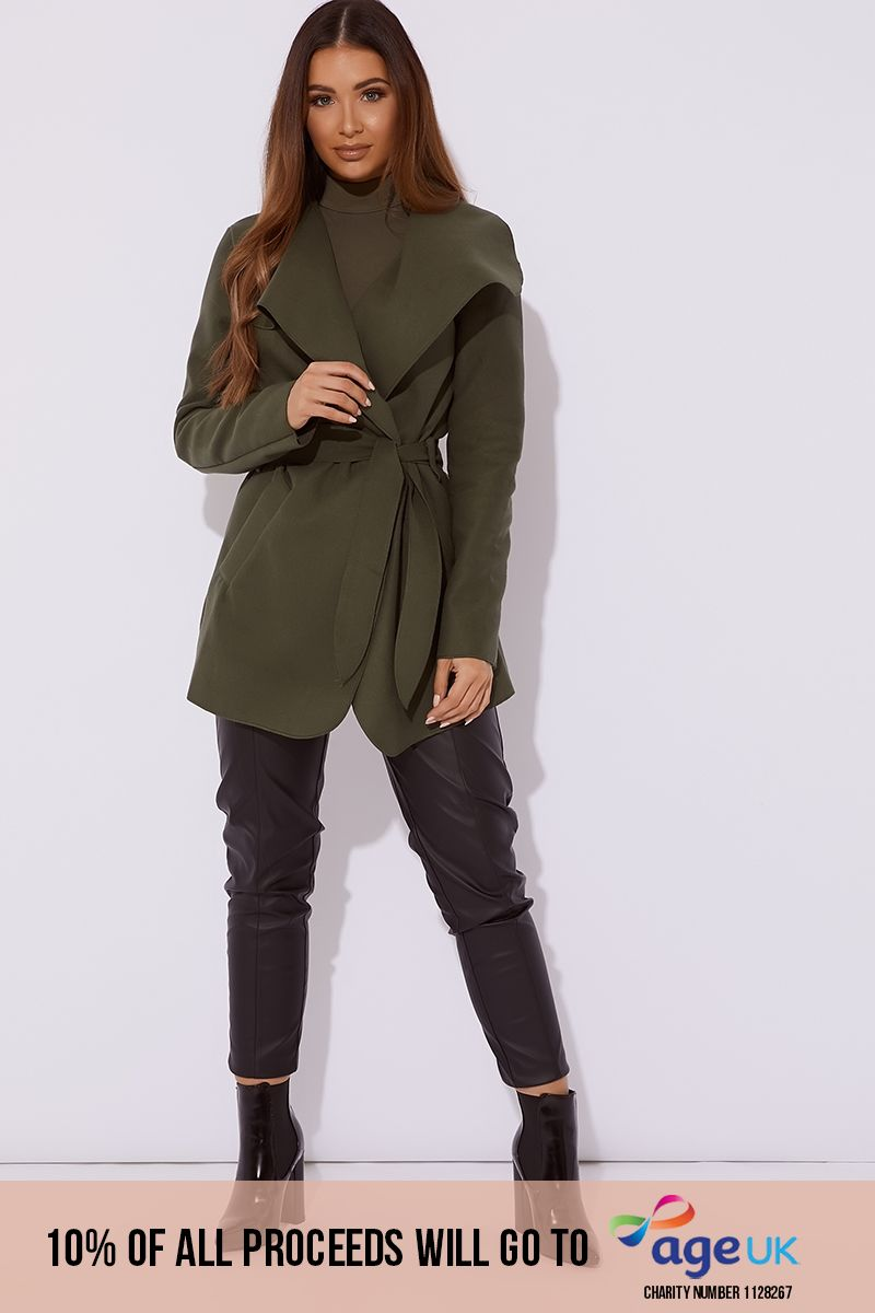 khaki short waterfall jacket
