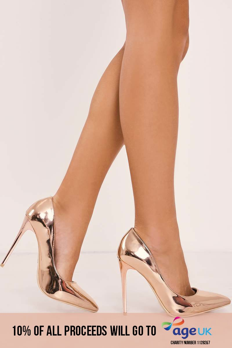rose gold court heels