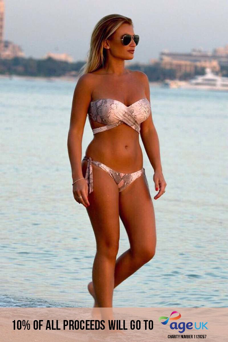 BILLIE FAIERS SNAKE PRINT MULTIWAY BIKINI TOP