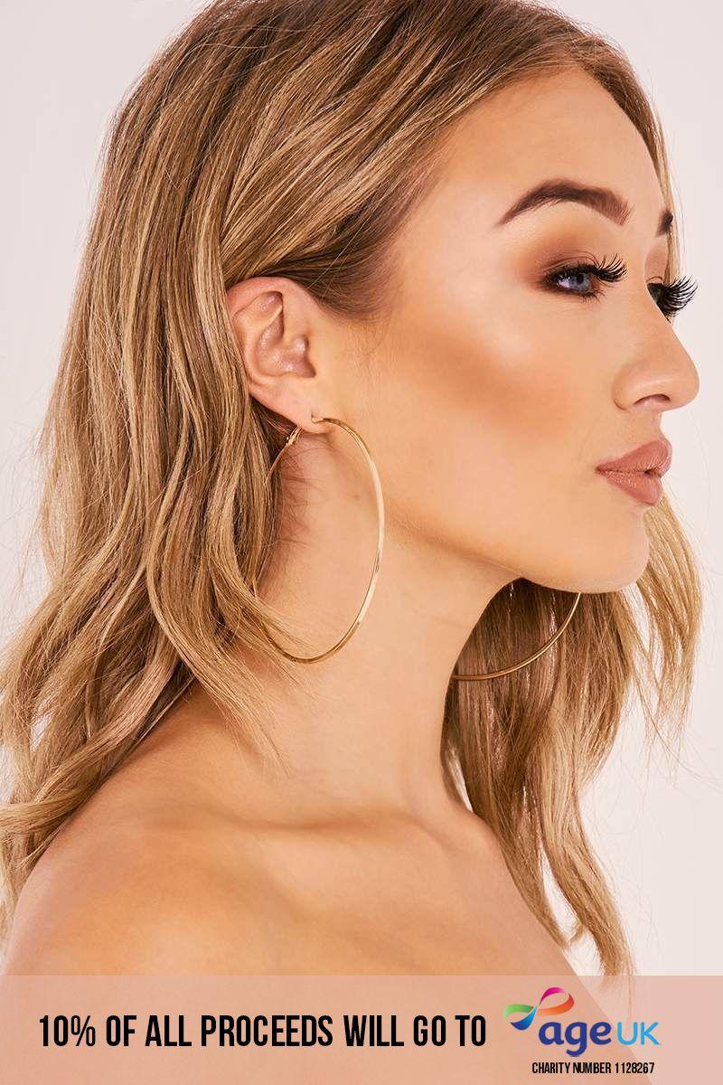 GOLD LARGE HOOP EARRINGS