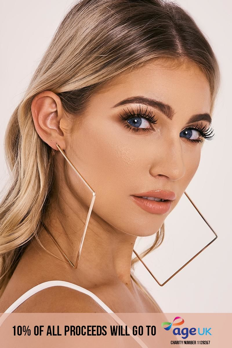ROSE GOLD SQUARE HOOP EARRING
