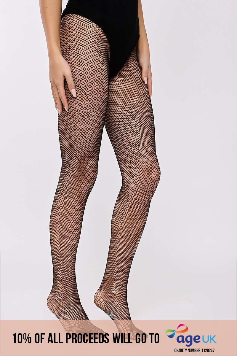 TANYA BLACK FISHNET TIGHTS