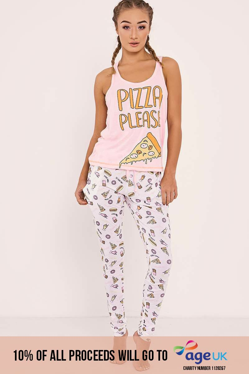 PIZZA PLEASE PJYAMA VEST SET