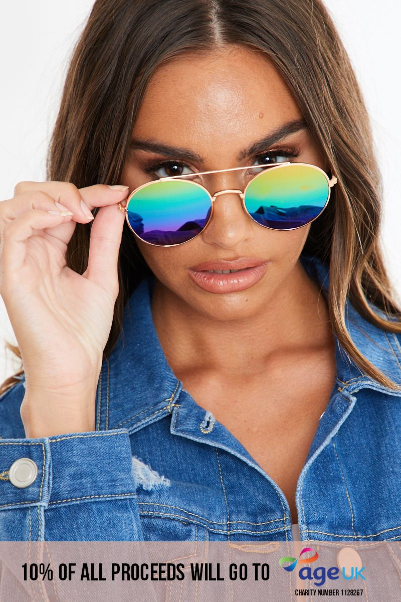 COLOURED LENSE ROUND SUNGLASSES